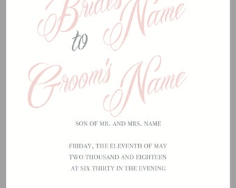 Wedding Invitation and Response Card