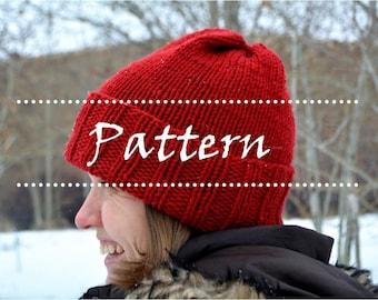 Afton Hat Pattern, knit hat pattern, knitted hats, beginner knitting patterns, easy knit hat patterns, easy knitting patterns