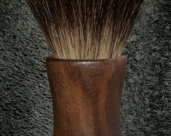Black Walnut 30 Shaving Brush - 30 mm Black Badger