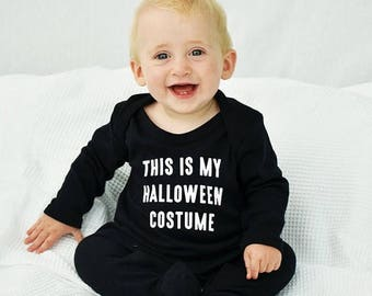 Sale Halloween Costume Halloween Baby Romper Sleepsuit - Halloween Baby Romper - Halloween Baby Costume - Baby Halloween -Sleepsuit [RMPR-HW