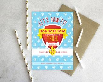 PRINTABLE Birthday Party Invitation | Paw Patrol Paw-ty!