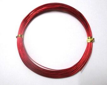 10 meters wire wheels red 0.8 mm reel
