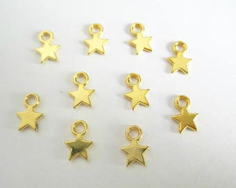 20 charms star 10 x 8 x 1 mm gold color