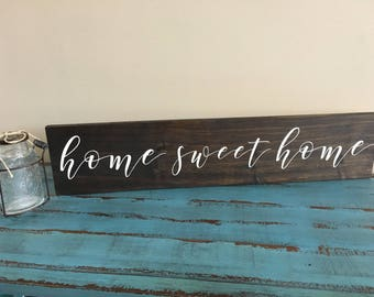 Home Sweet Home Rustic Wood Sign/Family Decor/Gallery Wall Decor/Inspirational Sign