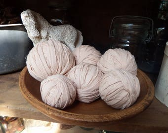 Tea Dyed Muslin Rag Balls, Fabric Balls, Prim Bowl Fillers, Country Primitive Decor, Fabric Rag Balls, Country Decor, All Cotton Rag Balls