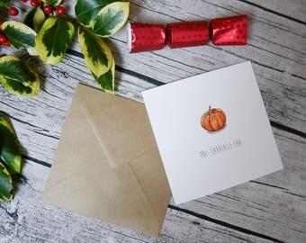 Pumpkin Greetings Card