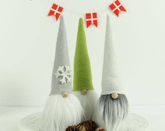 Nordic Woodland Gnomes, Wool Felt Gnome, Gifts for Her, Tomte, Elf, Nisse by The Gnome Makers