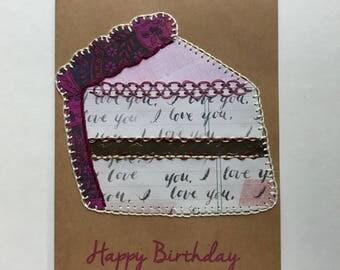 Crazy Quilt Birthday Card
