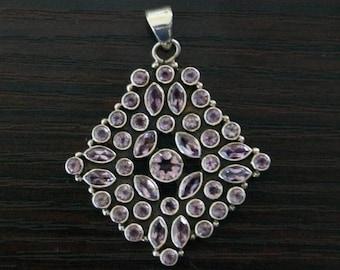 ON SALE Divine AMETHYST Silver Pendant