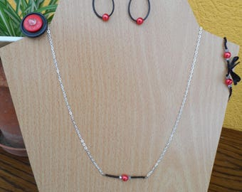 Parure, necklace, ring, earrings, bracelet