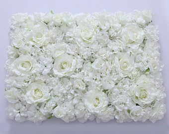 White Stunning Wedding Flower Wall Backdrop Silk Flowers Panels Background For Wedding Bridal Photography 40x60cm
