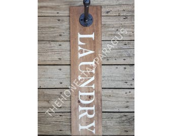 Laundry Room Sign, Laundry Hanger, Laundry Sign, Laundry Room Decor, Clothes Hanger, Clothes Rack, Laundry Rack, Rustic Laundry Decor