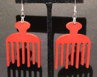 Red Duafe Earrings