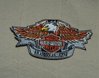 embroidered harley badge
