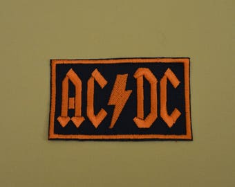AC DC embroidered badge has the machine