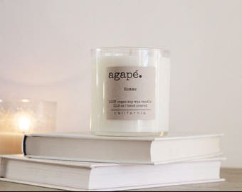 HOMME • Soy candle, oak moss and amber, citrus, masculine candle, mens candle, natural candle,  Agape Candles
