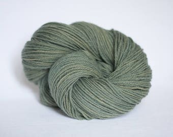 Organic wool natural plant dyed - Schafwolle #03  green - semi solid