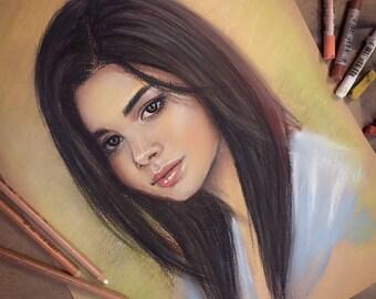 Custom Portrait, Custom Pastel Portrait, Christmas Gift Personalized, Custom Drawing, Commission Portrait, Portrait From Photo