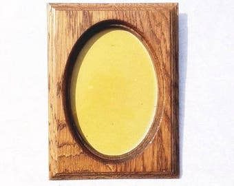 Vintage Wooden Frame Decorative Old Wooden Frame Oval Shape Frame Vintage Frames