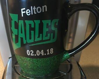 Philadelphia Eagles Glitter Mug