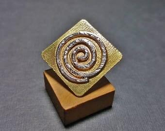 Geometric Ring, Geo Ring, Infinity Ring, Infinity Jewelry, Rhombus Ring, Spiral Ring, Geometric Jewelry, Adjustable Ring, Rhombus Jewelry