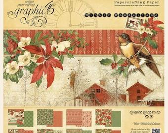 Graphic 45-Winter Wonderland 12x12 Paper Pad
