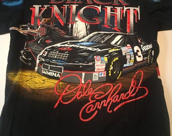 Vintage Dale Earnhardt The Black Knight Goodwrench Racing T Shirt