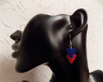 Small earring and its hama bead
