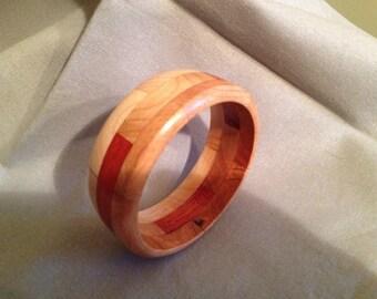 Wood bangle bracelet #6
