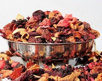 Tutti Frutti Infusion - Fruit Tea - Tisane - strawberry tea - Caffeine Free Tea - Loose Leaf Tea - Tea - Tea Gift
