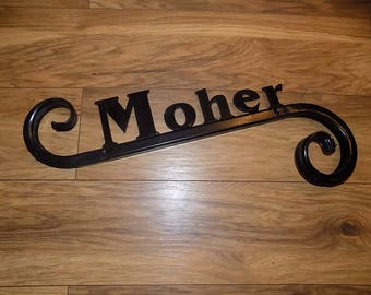Custom Made Plaque...........................Wrought Iron(Forged Steel)....Custom Made
