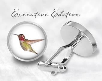 Anna's Hummingbird Cufflinks - Hummerbird Cuff Links (Pair) Lifetime Guarantee (S1142)
