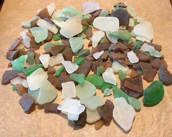 Genuine Beach Glass, Sea Glass, Sea Glass Bulk,From New York and Connecticut, Bulk Lot Of Assorted Colors Shapes and Sizes, 1 Pound, Lot 467
