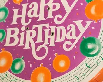 Happy Birthday revolving musical cake stand