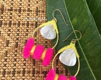 Cute colorful tear drop earrings