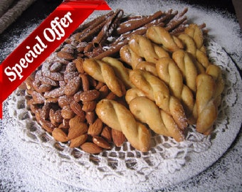 Koulourakia - Greek Butter Cookies - Homemade Cookies from an Old Traditional Recipe - Cookies for Coffee - Twist Cookies ( 96 items)