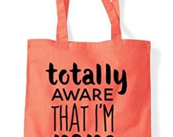 Totally Aware That I'm Rare Statement Tote Bag Shopper