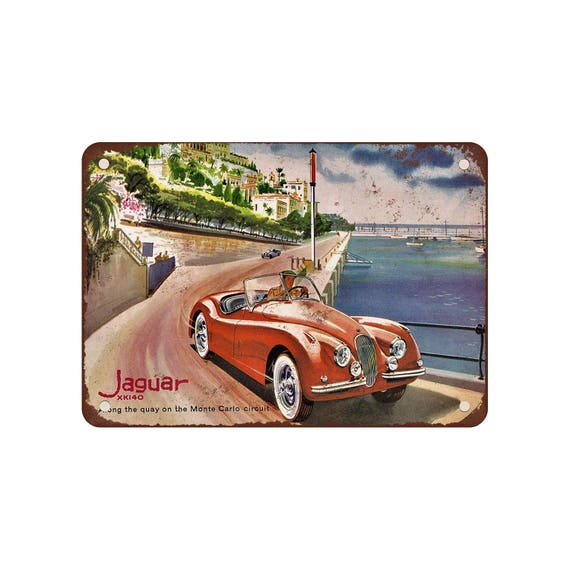 1954 Jaguar Xk140: 1954 Jaguar XK140 In Monte Carlo Vintage Look Reproduction