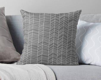 Gray Pillow | Gray Pillow Case | Gray Throw Pillow | Gray Pillow Cover | Gray Cushion | Gray Décor | Gray Pillowcase