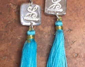 Friendship Fine Silver Charm Earrings