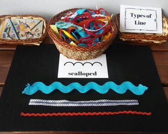 Types of Line, Kandinsky Inspired Loose Parts, Fine Motor, PreWriting,  Art Education