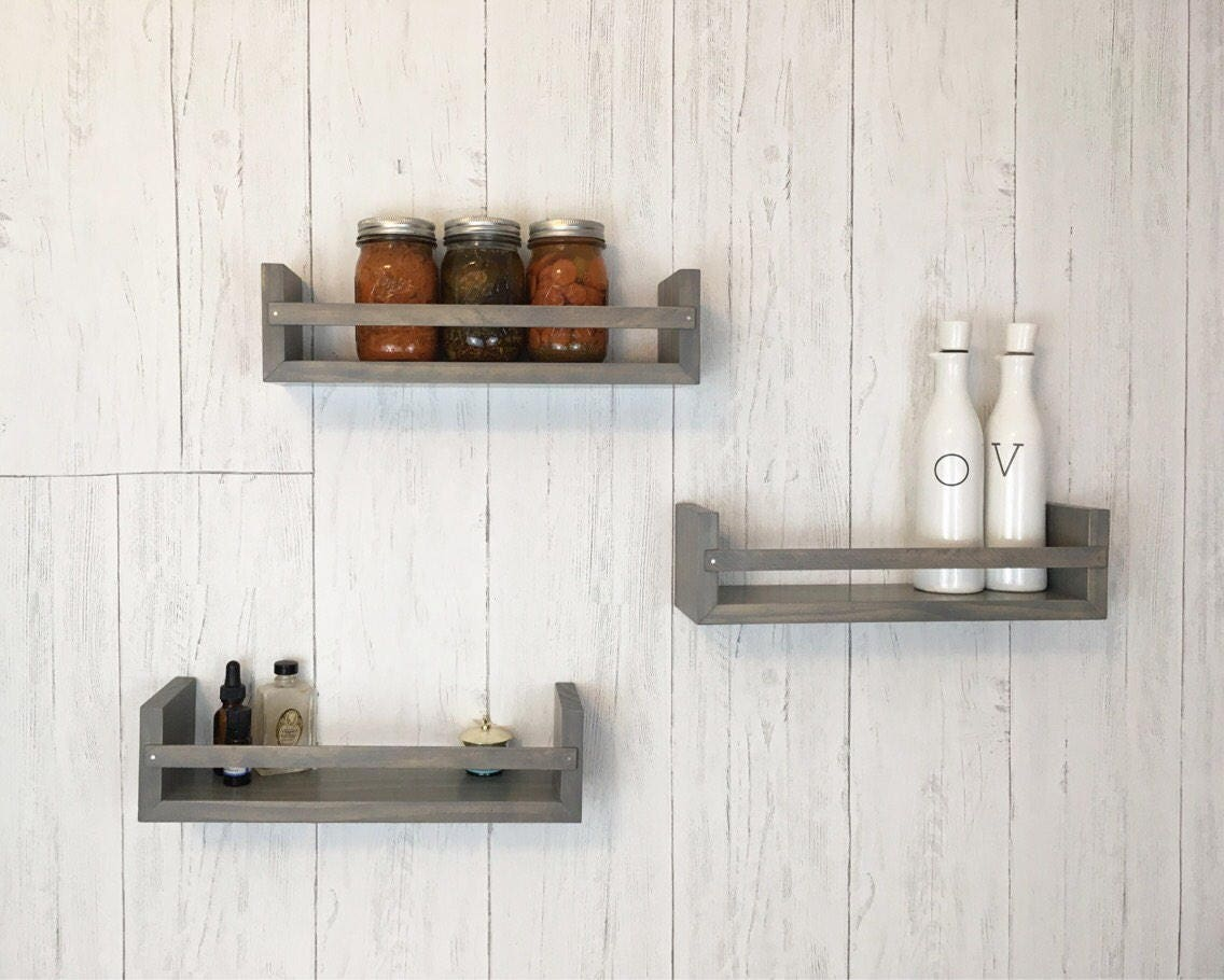 Spice Rack Set, Bathroom Wall Decor, Bathroom Decor, Floating ...