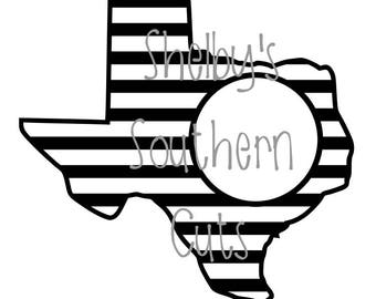 Texas Striped Monogram - SVG file