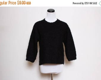 30% OFF VTG 90s Black Plain Fuzzy Sweater M