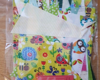 Fabric Scrap Bag - 80g - Greens