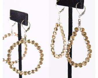 Swarovski / Golden Shadow earrings