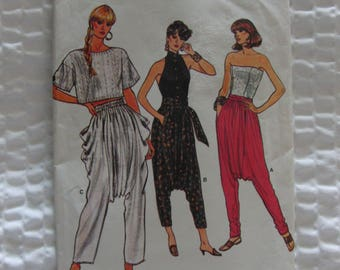 Vintage Sewing Pattern Very Easy Very Vogue 9591 Hammer Pants 1986 Can't Touch This!