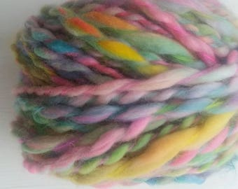 SIRIUS skein of yarn spun to spinning wheel.