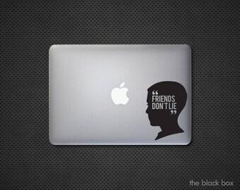 Stranger Things inspired Friends don't lie Macbook decal - Macbook sticker