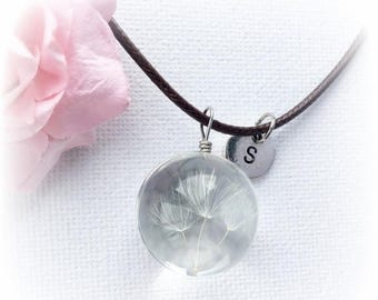 VACATION SALE Dandelion necklace, real dandelion jewellery real dandelion, dandelion seed necklace, make a wish necklace, dandelion jeweller